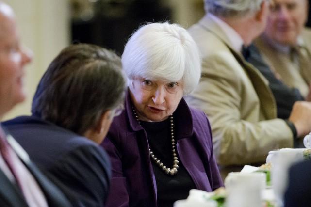 Selon la présidente de la Réserve fédérale,Janet Yellen,«les... (AP, Matt Rourke)