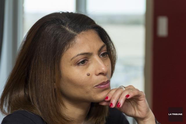 Ensaf Haidar, la femme de Raïf Badawi.... (Archives La Tribune, Marie-Lou Béland)