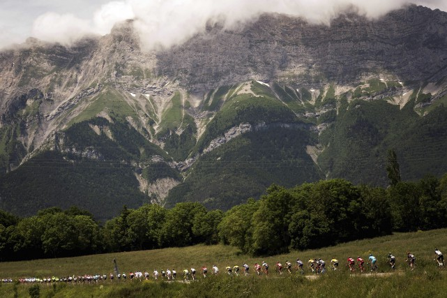 La dernière épreuve du Critérium du Dauphiné se... (Photo AFP, Lionel Bonaventure)