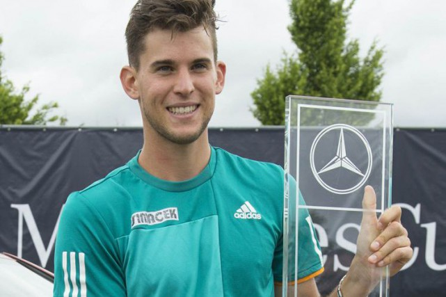 Dominic Thiem... (PHOTO THOMAS KIENZLE, AGENCE FRANCE-PRESSE)