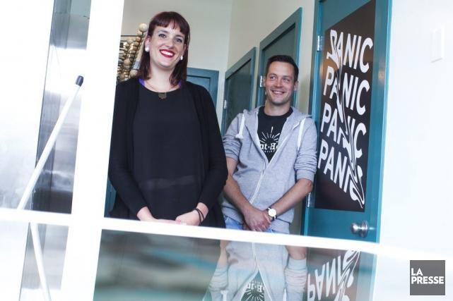Marie-Pier Houle et Jean-François LeducduMAESMI... (PHOTO OLIVIER PONTBRIAND, LA PRESSE)