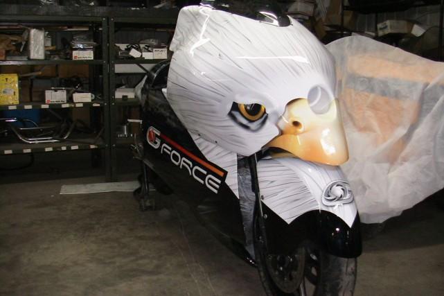 La R6, baptisée la Canadian Eagle, est conçue... (Photo Gagné Lessard Sport)