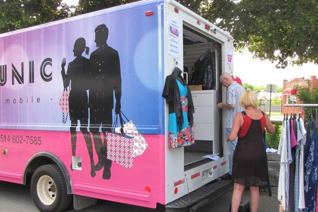 Le nouveau « fashion truck » de la boutique Stylunic... (PHOTO FOURNIE PAR STYLUNIC)