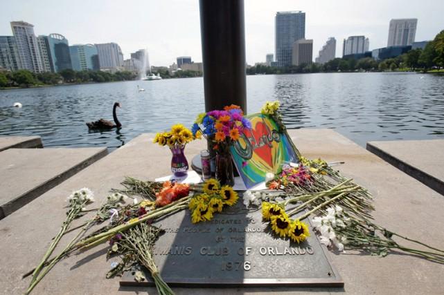 Un mémorial à la mémoire des victimes du... (PHOTO AP)