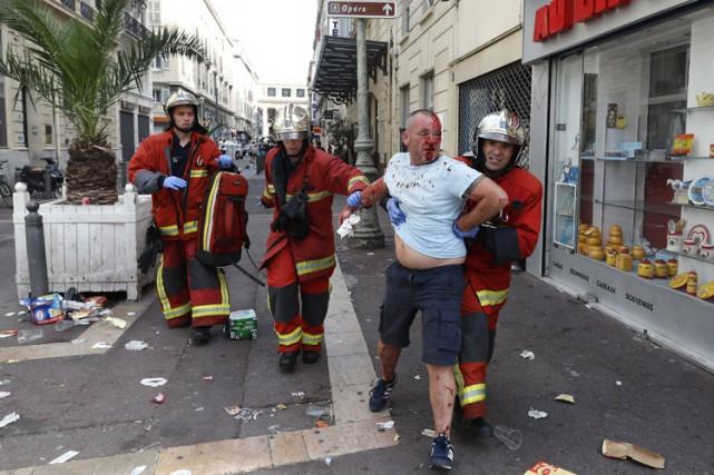 Le tribunal correctionnel de Marseille a prononcé lundi 9 peines de prison... (PHOTO AP)