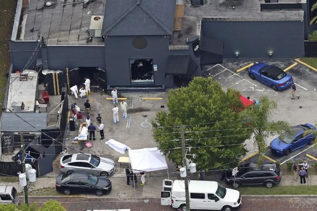 Vue aérienne de la boîte de nuit Pulse,... (Red Huber, Associated Press)