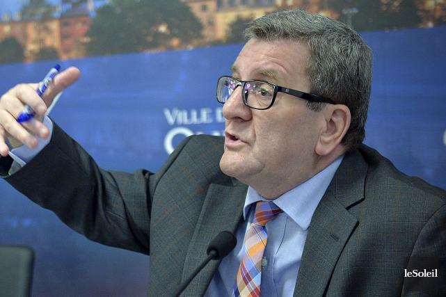 Le maire Régis Labeaume... (Photothèque Le Soleil, Pascal Ratthé)