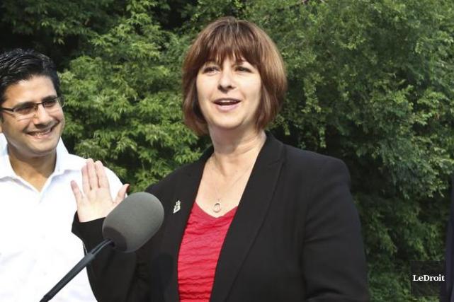 La nouvelle ministre déléguée aux Affaires francophones, Marie-France... (Patrick Woodbury, Archives Le Droit)