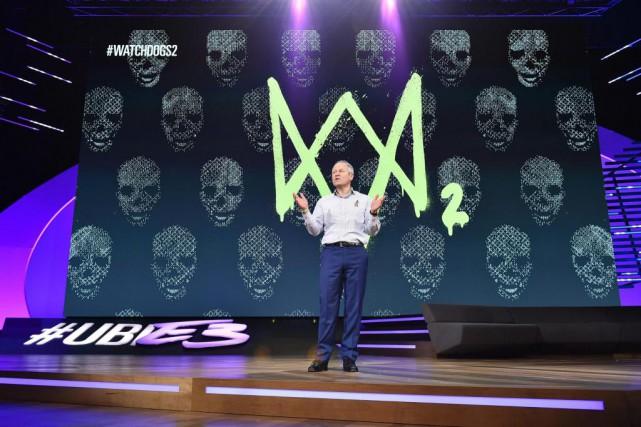 Yves Guillemot, président d'Ubisoft, a profité de son... (Photo Jordan Strauss, Associated Press)