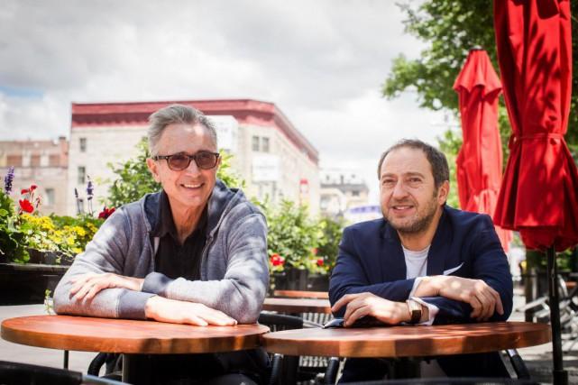Les acteurs Thierry Lhermitte et Patrick Timsit ont... (photoOLIVIER PONTBRIAND, la presse)