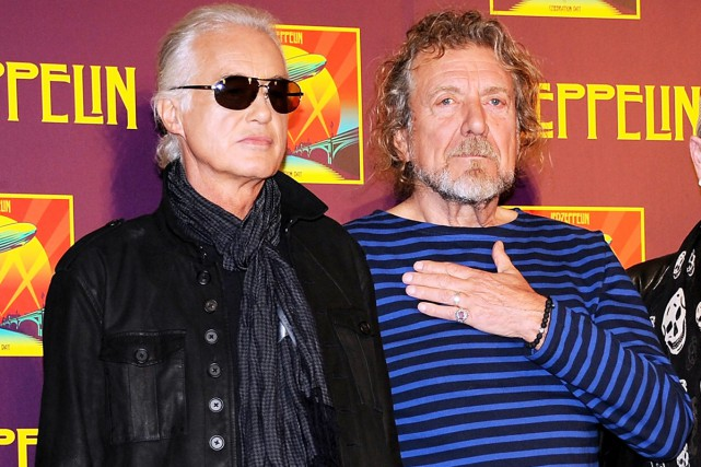 Jimmy Page et Robert Plant photographiés en octobre... (PHOTO ARCHIVES AP)