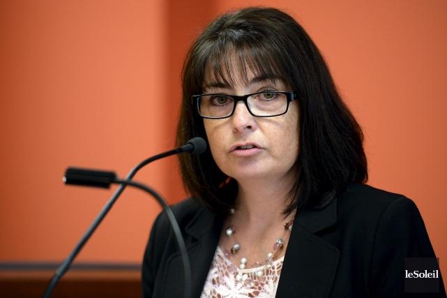Caroline Browna présenté le bilan annuel des DPJ... (Le Soleil, Erick Labbé)