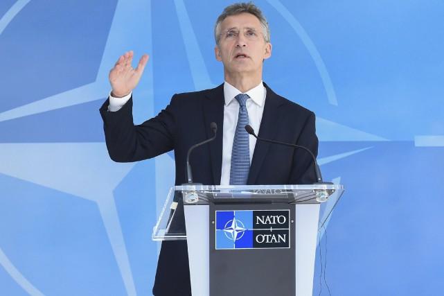 Le secrétaire général de l'Otan, Jens Stoltenberg,a répété... (AFP, John Thys)