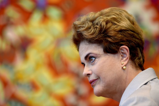 La présidente suspendue Dilma Rousseff.... (PHOTO archives AFP)