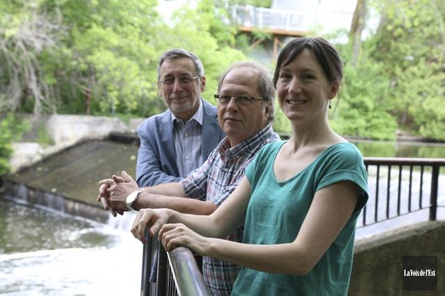 Richard Racine, Jean-Luc Nappert et Karine Filiatrault, de... (Janick Marois, La Voix de l'Est)