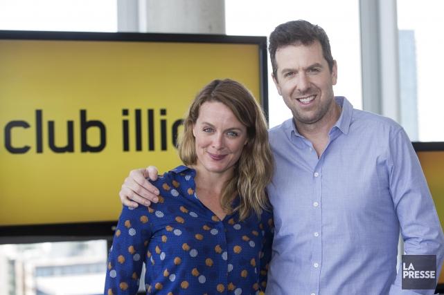 Julie Le Breton et Patrice Robitaille seront collègues... (La Presse, Hugo-Sébastien Aubert)