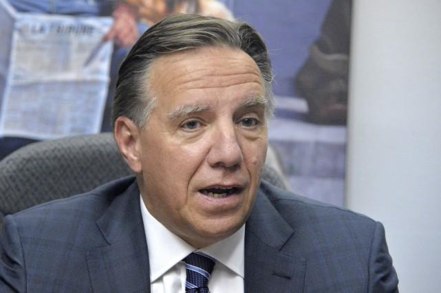 Le chef de la Coalition Avenir Québec était... (Spectre Média, Maxime Picard)