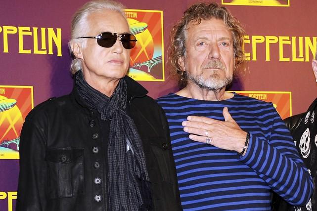 Jimmy Page et Robert Plant, que l'on voit... (AP, Evan Agostini)