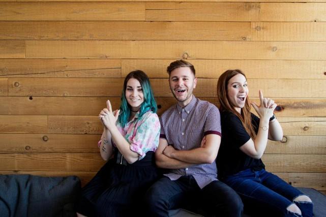 Trois vidéoblogueurs - ou plutôtyoutubeurs - d'ici: de... (PHOTO ALAIN ROBERGE, LA PRESSE)