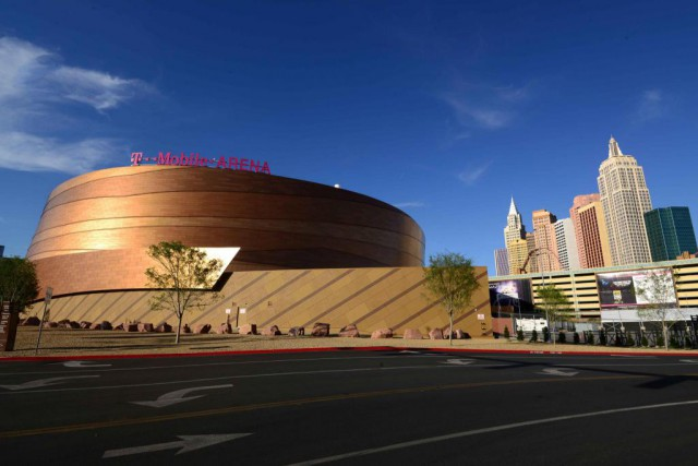 Le T-Mobile Arena de Las Vegas accueillera bientôt... (PhotoKirby Lee, USA TODAY Sports)