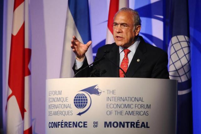 Le secrétaire général de l'OCDE, Angel Gurría, a... (Photo MArtinChamberland, LA PRESSE)