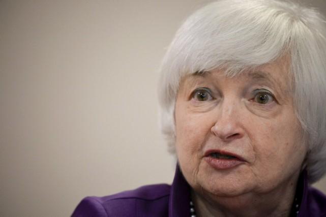 Janet Yellen.... (PHOTO CHARLES MOSTOLLER, AGENCE FRANCE-PRESSE)