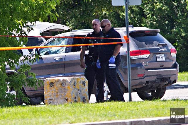 L'homme se trouvait dans son véhicule, vers 8h30,... (PHOTO PATRICK SANFACON, LA PRESSE)