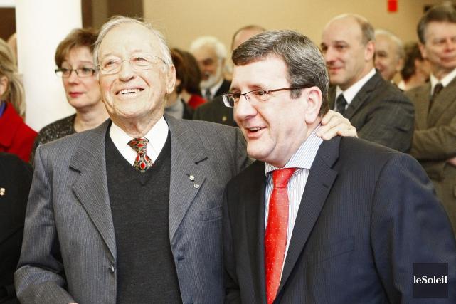Gilles Lamontagne et Régis Labeaume, en 2010.... (Photothèque Le Soleil, Yan Doublet)