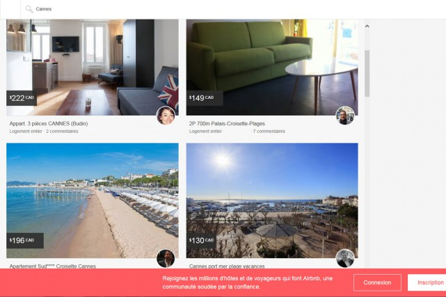 Le site de location d'appartements Airbnb a annoncé mercredi élargir à 18... (CAPTURE D'ÉCRAN)