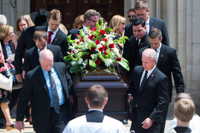 Les funérailles de Gordie Howe ont été célébrées... (Photo Nathan Denette, PC)