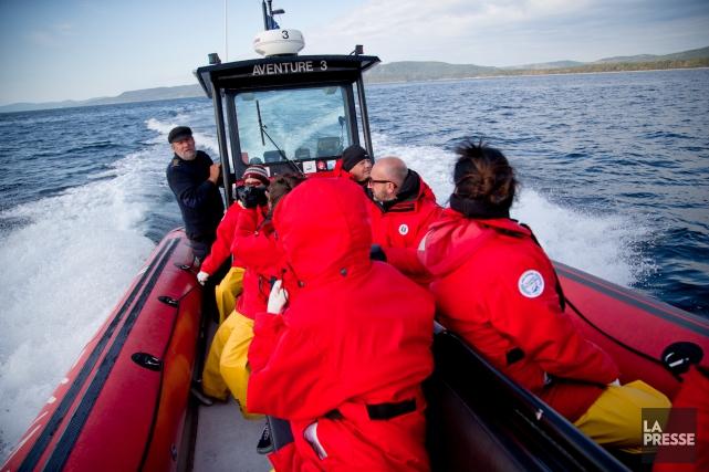 Une croisière aux baleines de la compagnie Innu... (Photothèque La Presse, David Boily)