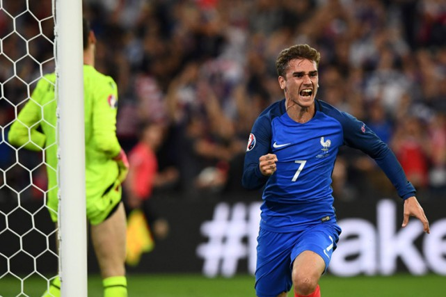Antoine Griezmann a inscrit le but de la... (PHOTO AFP)
