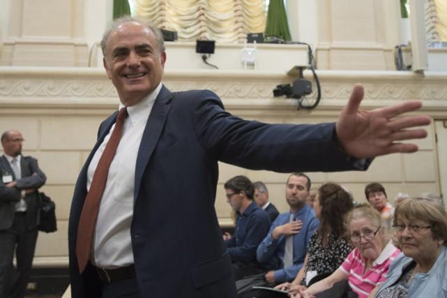 Calin Rovinescu a défendu son bilan en matière... (PHOTO PC)