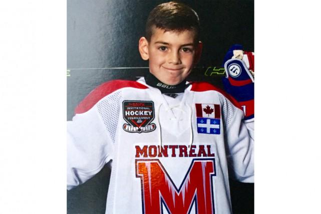 Sacha Boisvert, un jeune hockeyeur très prometteur....