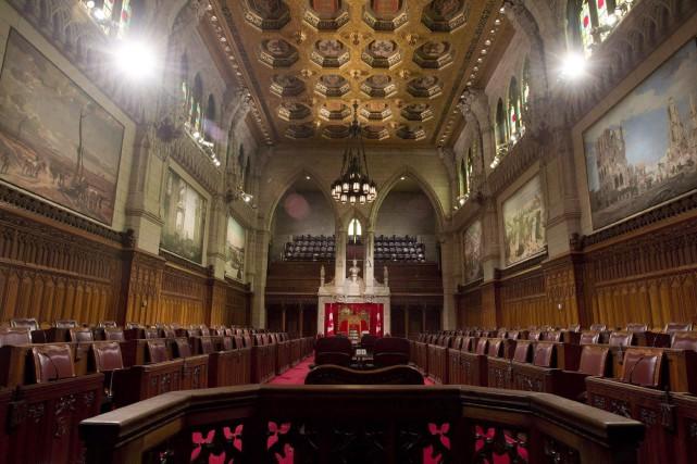 Au fil des discours, mercredi, de nombreux sénateurs... (Archives, La Presse Canadienne)