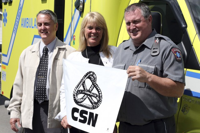Dany Lacasse, vice-président de la FSSS-CSN, Annette Herbeuval,... (Christophe Boisseau-Dion)