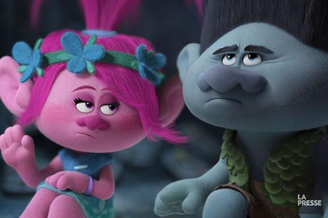 Les deux personnages principauxdeTrolls, l'éternel optimiste Poppy, chef... (Photo fournie par DreamWorks Animation)