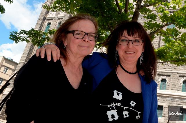 Marie Gignac et Dominique Violette, respectivement directrice artistique... (Le Soleil, Erick Labbé)