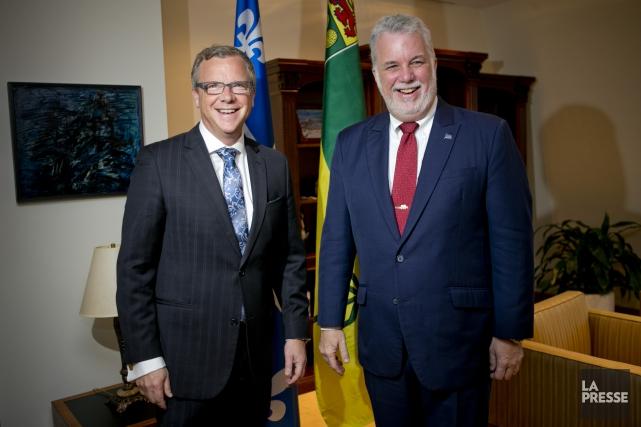 Le premier ministre de la Saskatchewan Brad Wall... (PHOTO DAVID BOILY, LA PRESSE)