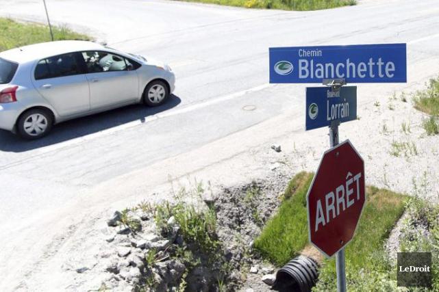 L'accident mortel s'est produit à l'intersection du chemin... (Etienne Ranger, LeDroit)