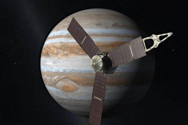 Cinq ans après son lancement, la sonde Juno de la NASA fonctionne bien... (ILLUSTRATION FOURNIE PAR LA NASA)