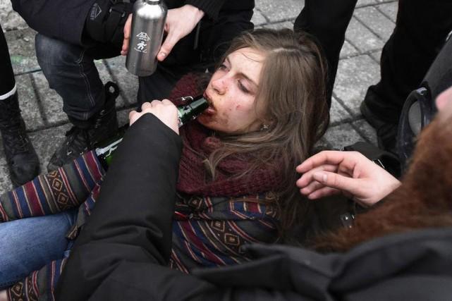 Naomie Trudeau-Tremblay, 18 ans, a été blessée à... (PHOTO TIRÉE DE TWITTER)