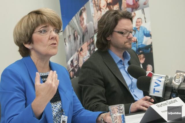 Martine Couture, présidente-directrice générale du CIUSSS, affirme que... (Photo Le Quotidien, Michel Tremblay)