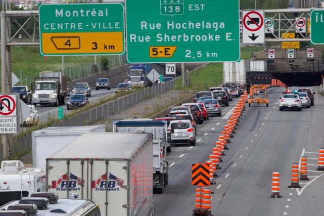 L'autoroute Métropolitaine et le tunnel Louis-Hippolyte-La Fontaine seront des... (Photo Ivanoh Demers, archives La Presse)