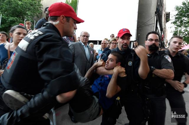 Le suspect Esteban Torresa rapidement été arrêté par... (La Presse, Bernard Brault)