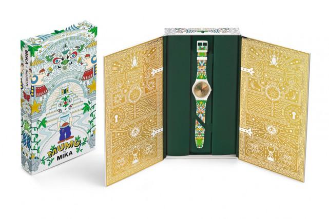 La montre Swatch du chanteur Mika, Mumu, dans...
