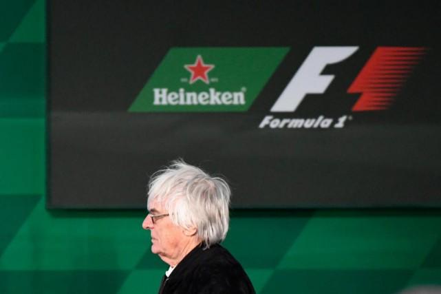 Bernie Ecclestone, patron de la F1, lors de... (PHOTO BERNARD BRAULT, LA PRESSE)