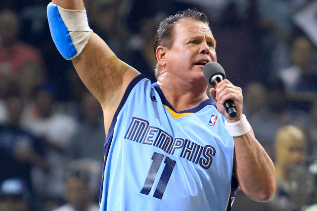 Le lutteur Jerry «The King» Lawler... (Photo Mark Humphrey, archives AP)