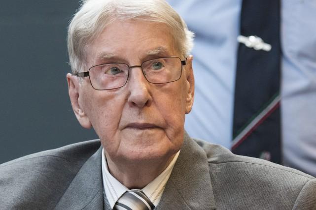 Reinhold Hanning est un ancien sergent SS de... (AFP, Bernd Thissen)