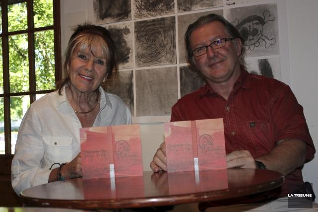 Marie-T. Girard, vice-présidente du P'tit Bonheur et Benoit... (La Tribune, Yvan Provencher)